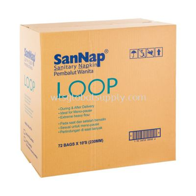 SanNap Sanitary Napkin Loop 23CM 10's x 72 Packs (CARTON)