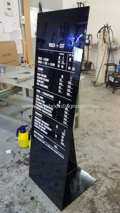 Hair Culture Price List Acrylic Display Stand at Sungai Wang KL