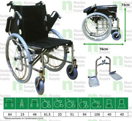 NL903AJQ-46 Multi-Function (Quick Release) Steel Wheelchair