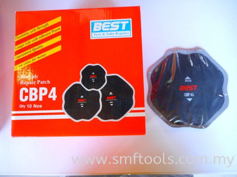 BEST PATCH CBP4 140MMx140MM Bias Ply Repair Units Tire Repair Materials