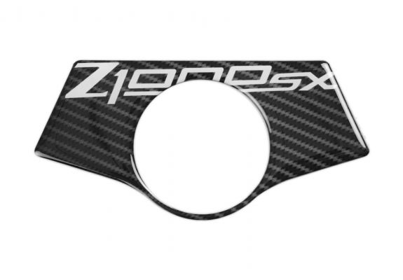 Red Dynamic Carbon Fibre Yoke Pad for Kawasaki Z1000SX '11-'16