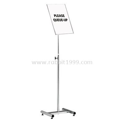 RABBIT STAINLESS STEEL A3 SIGN BOARD STAND - SBS-057/SS