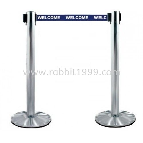 STAINLESS STEEL SELF RETRACTABLE BELT Q-UP STAND STAINLESS STEEL Q-UP STAND & SIGN BOARD STAND