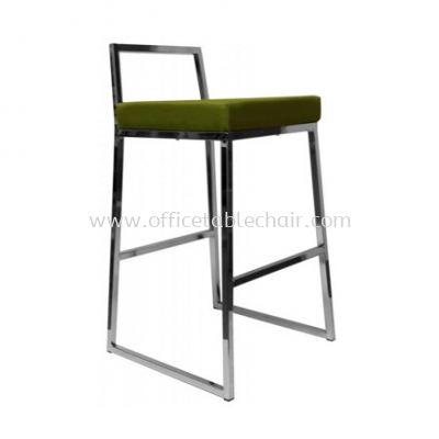 HIGH BARSTOOL CHAIR WITH BACKREST C/W CHROME METAL BASE ST15