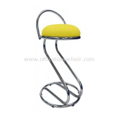 HIGH BARSTOOL CHAIR WITH BACKREST C/W CHROME METAL BASE ST3-1