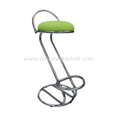 HIGH BARSTOOL CHAIR WITH BACKREST C/W CHROME METAL BASE ST3