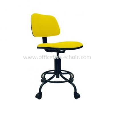 DC7 DRAFTING CHAIR C/W EPOXY BLACK METAL BASE