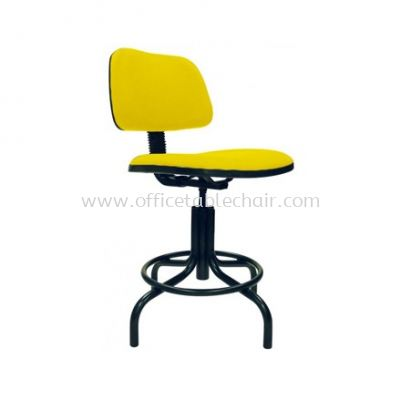 DC7-1 DRAFTING CHAIR C/W STOPPER & EPOXY BLACK METAL BASE