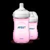 AVENT SCF694/23 260ML PP NATURAL 2.0 BTTL (TWIN ) PINK Feeding Bottles Avent