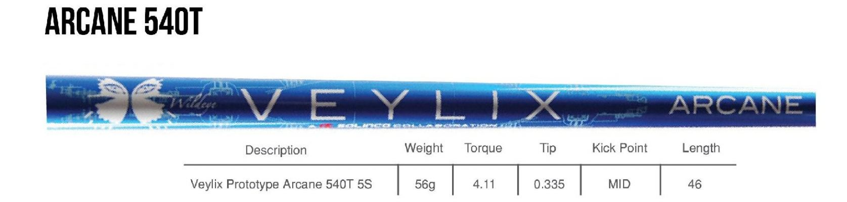 Veylix ARCANE 540T Driver Shaft