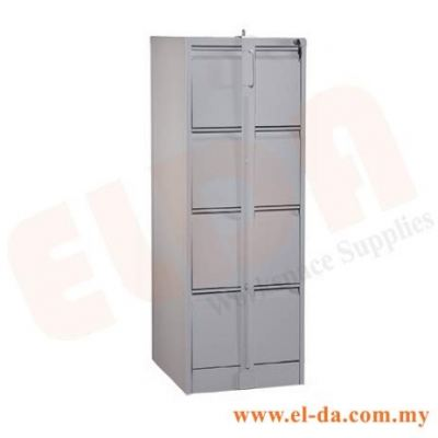 4 Drawer Filing Cabinet c/w Lockable Bar (ELDAFC4D-LB)