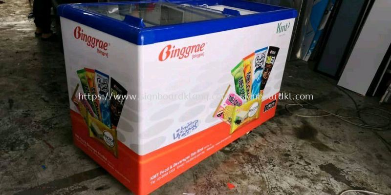 Binggrae Freezer Warping Sticker