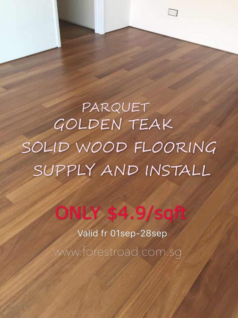 Parquet Golden Teak Solid Wood Flooring Supply And Install Sep 05