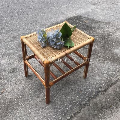 RATTAN SIDE TABLE WICKER RC