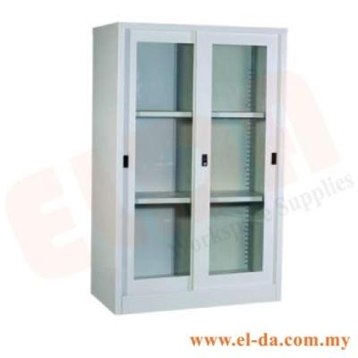 Medium-Height Steel Cabinet With Glass Sliding Door (ELDAFH2-GL)