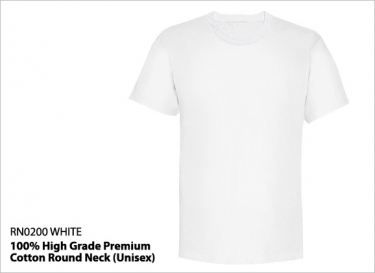 RN0200 White - 100% High Grade Premium Cotton