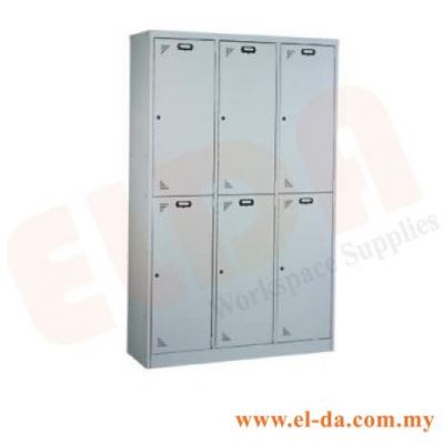 6 Compartment Steel Locker & Hostel Cupboard (ELDAHC6)