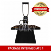 (PACKAGE INTERMEDIATE 1) Heat Press Machine 40x50cm with Auto Open + Silhouette Cameo V3 Plotter + E Intermediate Shirt & Sticker Business Package [Silhouette] Business Package