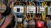 Control Panel Service Water Pump Control Panel Service