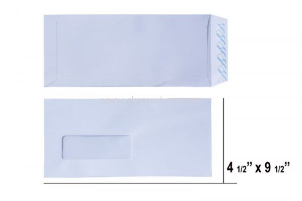 4.5 X 9.5 WHITE WINDOW ENVELOPE