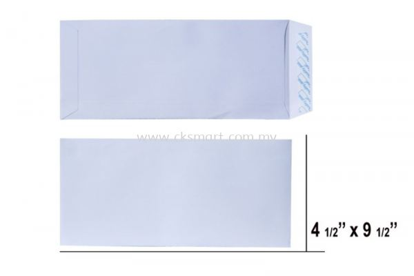 4.5 X 9.5 WHITE ENVELOPE