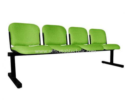 FOUR SEATER LINK CHAIR PADDED C/W EPOXY BLACK METAL BASE LC9-1