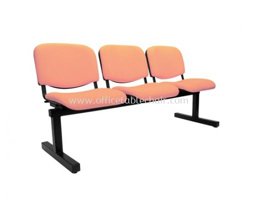 THREE SEATER LINK CHAIR PADDED C/W EPOXY BLACK METAL BASE LC5