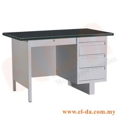 Steel Desk With Single Pedestal (ELDASD103B)