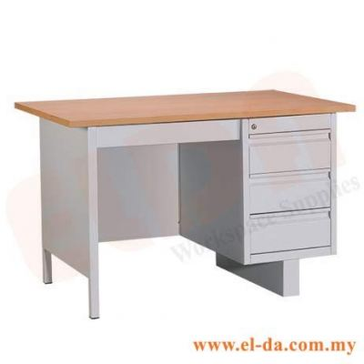 Steel Desk With Single Pedestal (ELDASD103W)