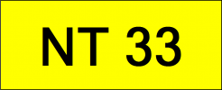 Number Plate NT33 Superb Classic Plate