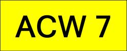 ACW7 VVIP Plate