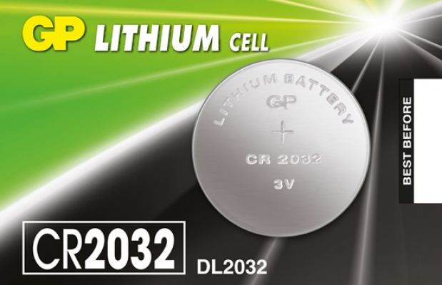 GP LITHIUM COINS CELLS BATTERIES , 3V CR2032-7C5