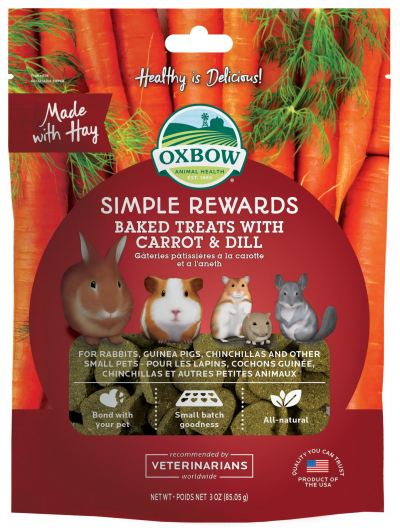 Oxbow Simple Rewards Baked Treats with Carrot & Dill (3oz)