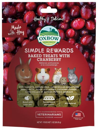 Oxbow Simple Rewards Baked Treats with Cranberry (3oz)