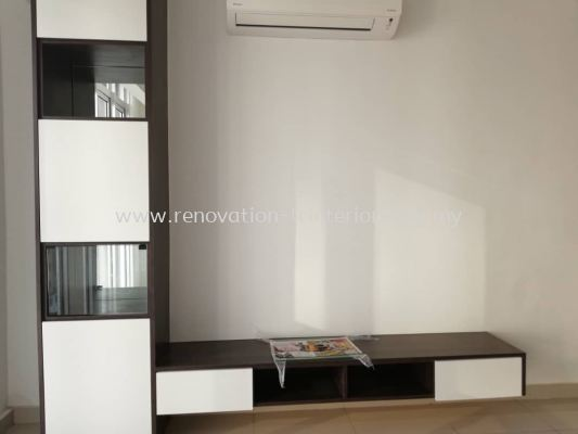 Tv console with display cabinet