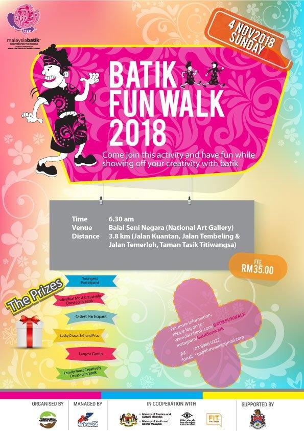 Batik Fun Walk 2018 October 2018 Year 2018 Past Listing