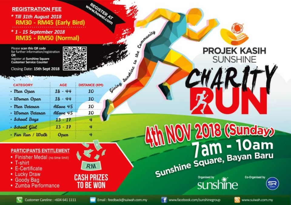 Projek Kasih Sunshine Charity Run November 2018 Year 2018 Past Listing