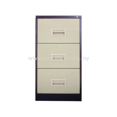 S106 / BB - 3 Drawers Filling Cabinet with Recess Handle C/W Ball Bearing Slide