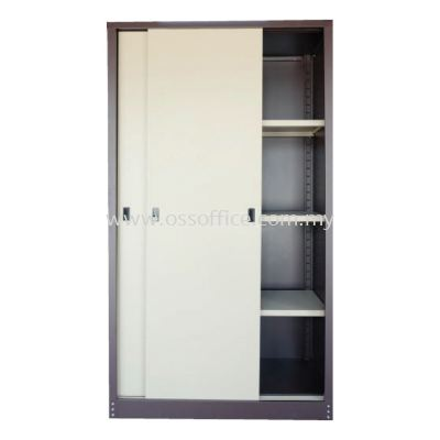 S116 Full Height Cupboard with Steel Sliding Door C/W 3 Adjustable Shelves