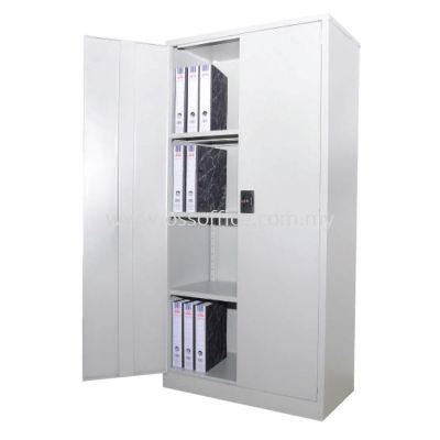 S118 Full Height Cupboard with Steel Swinging Door C/W 3 Adjustable Shelves