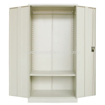 S200 Full Height Wardrobe with Steel Swinging Door C/W 1 Cloth Hanging Bar at Top & 1 Adjustable Shelves at Bottom