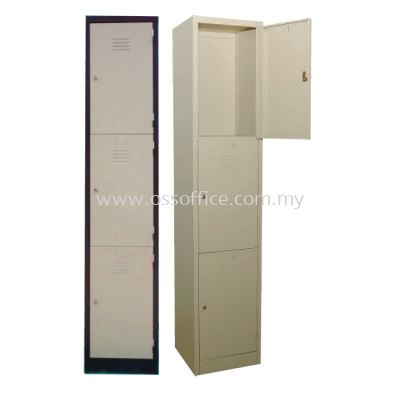 S114/3 - 3 Compartments Steel Locker