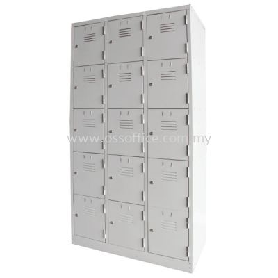 15 Compartments Steel Locker