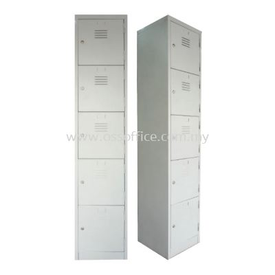 S114/E  - 5 Compartments Steel Locker