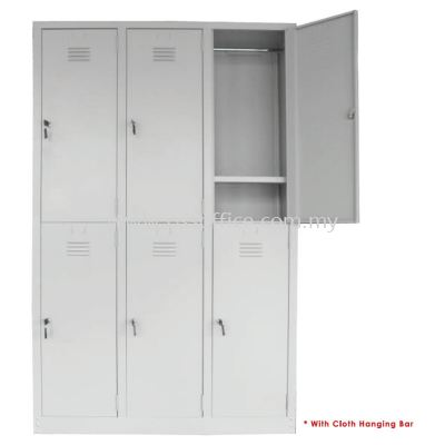 6 Compartments Steel Locker