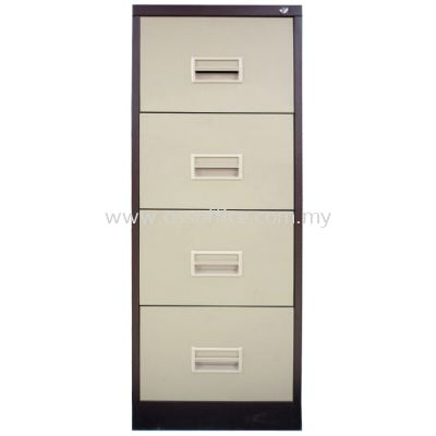 S106 / AB - 4 Drawers Filling Cabinet with Recess Handle C/W Ball Bearing Slide
