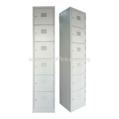 S114/A - 6 Compartments Steel Locker