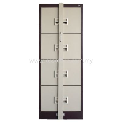 S106 / ABLB - 4 Drawers Filling Cabinet with Recess Handle C/W Ball Bearing Slide & Locking Bar
