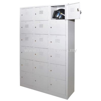 18 Compartments Steel Locker