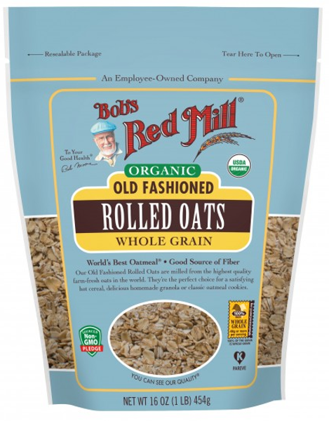 Organic Regular Rolled Oats 454g
